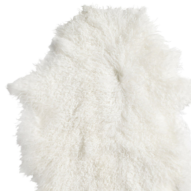 White Tibetan Lamb Fur