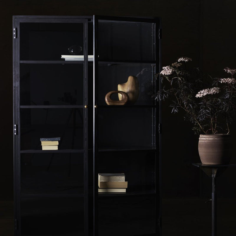 Black Iron Living Cabinet