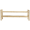 Low Bamboo Shelf Unit