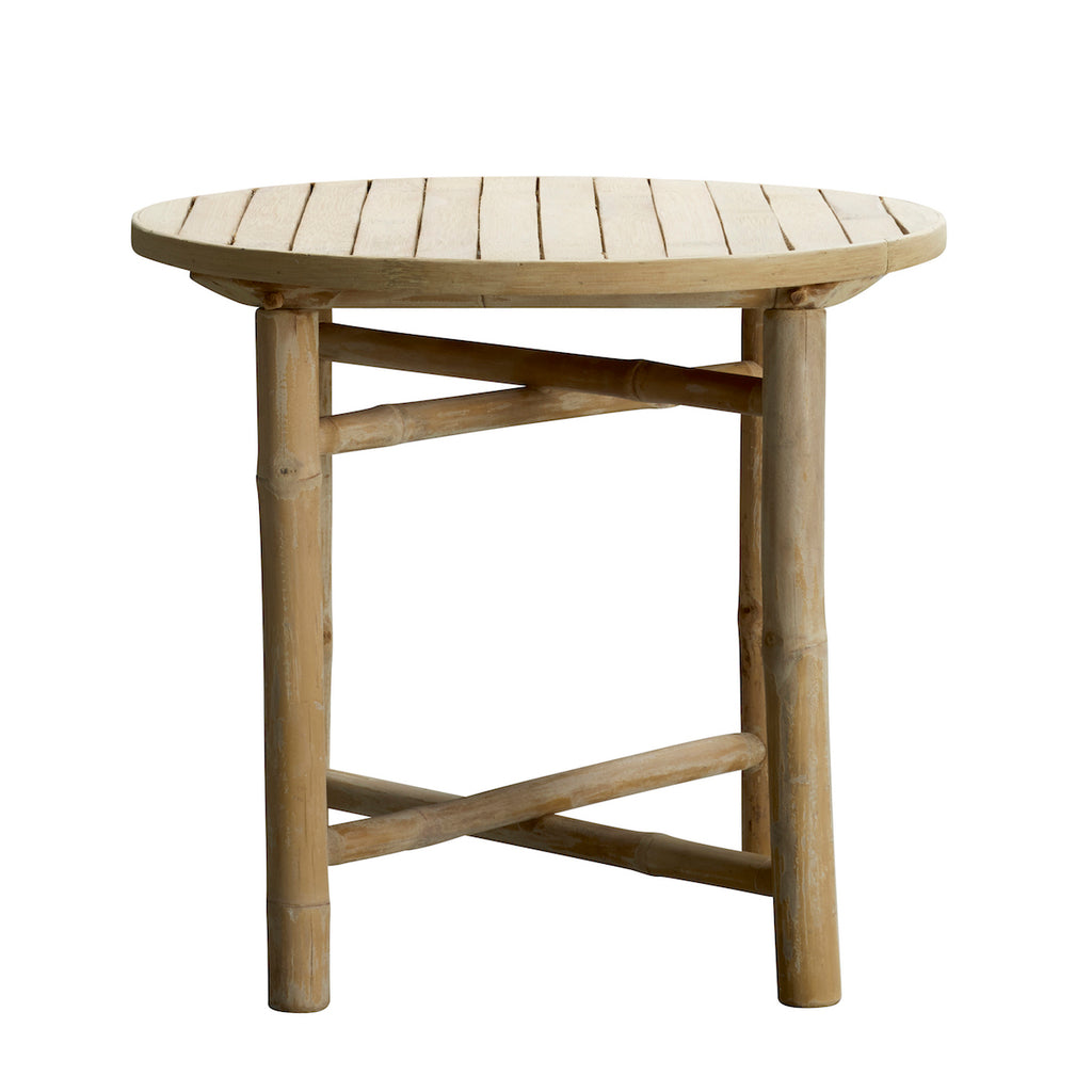 Bamboo Round Side Table | Design Vintage