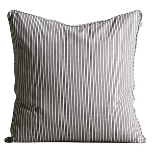 Black and White Ticking Cushion