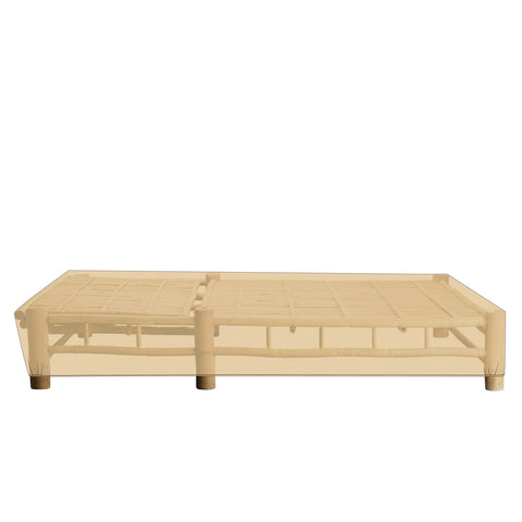 Bamboo Double Sunbed Cover