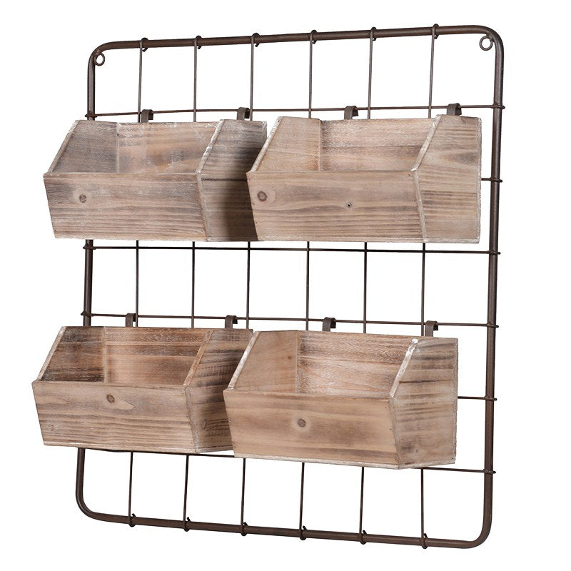 Wire Rack with Storage