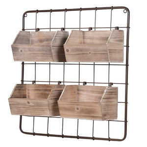 Wire Rack with Storage | Design Vintage