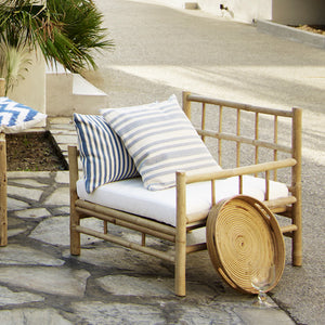 Ella Bamboo Armchair With Cushion | Design Vintage