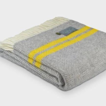 Two Stripe Grey/Zest Throw