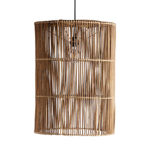 XL Tube Rattan Lampshade | Design Vintage