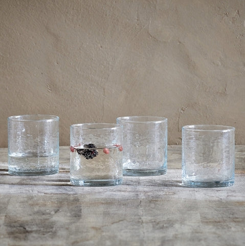 Set of Hammered Glass Tumblers