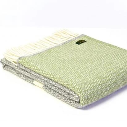 Fern Panel Lambswool Throw | Design Vintage
