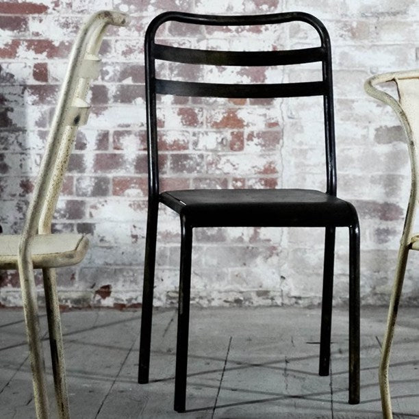 Leta Industrial Iron Chair | Design Vintage