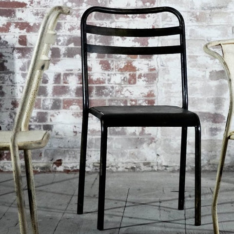 Leta Industrial Iron Chair
