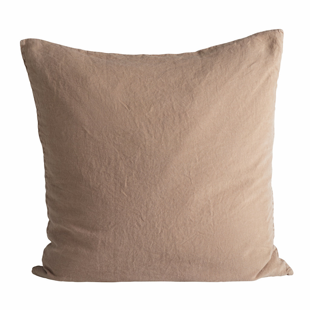 Camel 60cm Linen Cushion | Design Vintage