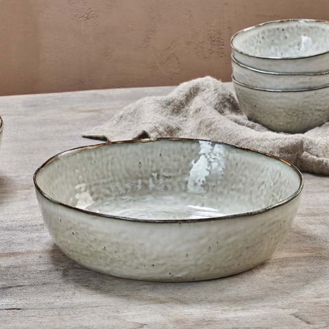 Handcrafted Amina Serving Bowl
