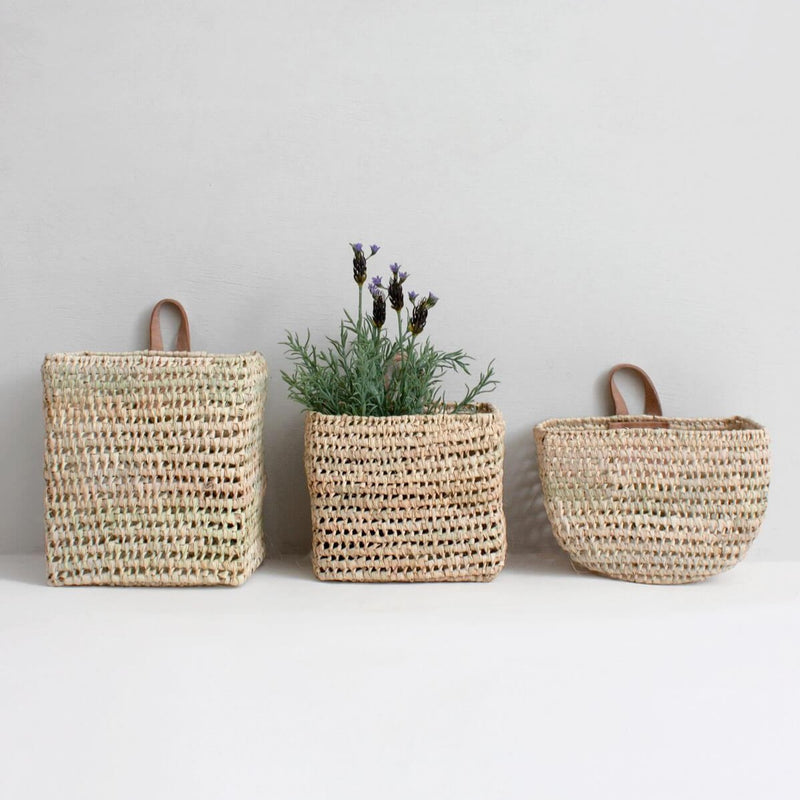Set of 3 Mini Wall Baskets | Design Vintage
