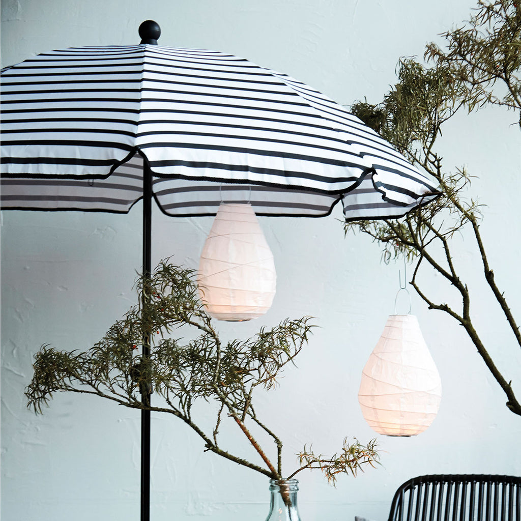 Black Stripe Beach Parasol | Design Vintage