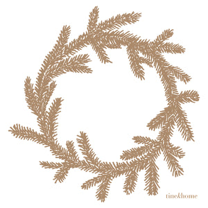 Pine Wreath Paper Napkins | Design Vintage