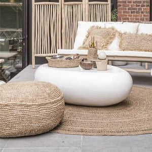 Natural Raffia Pouf | Design Vintage
