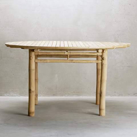 Round Bamboo Dining Table