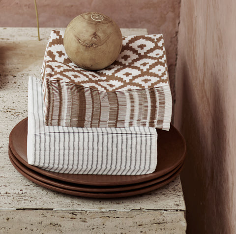 Honey Ikat Napkins | Design Vintage