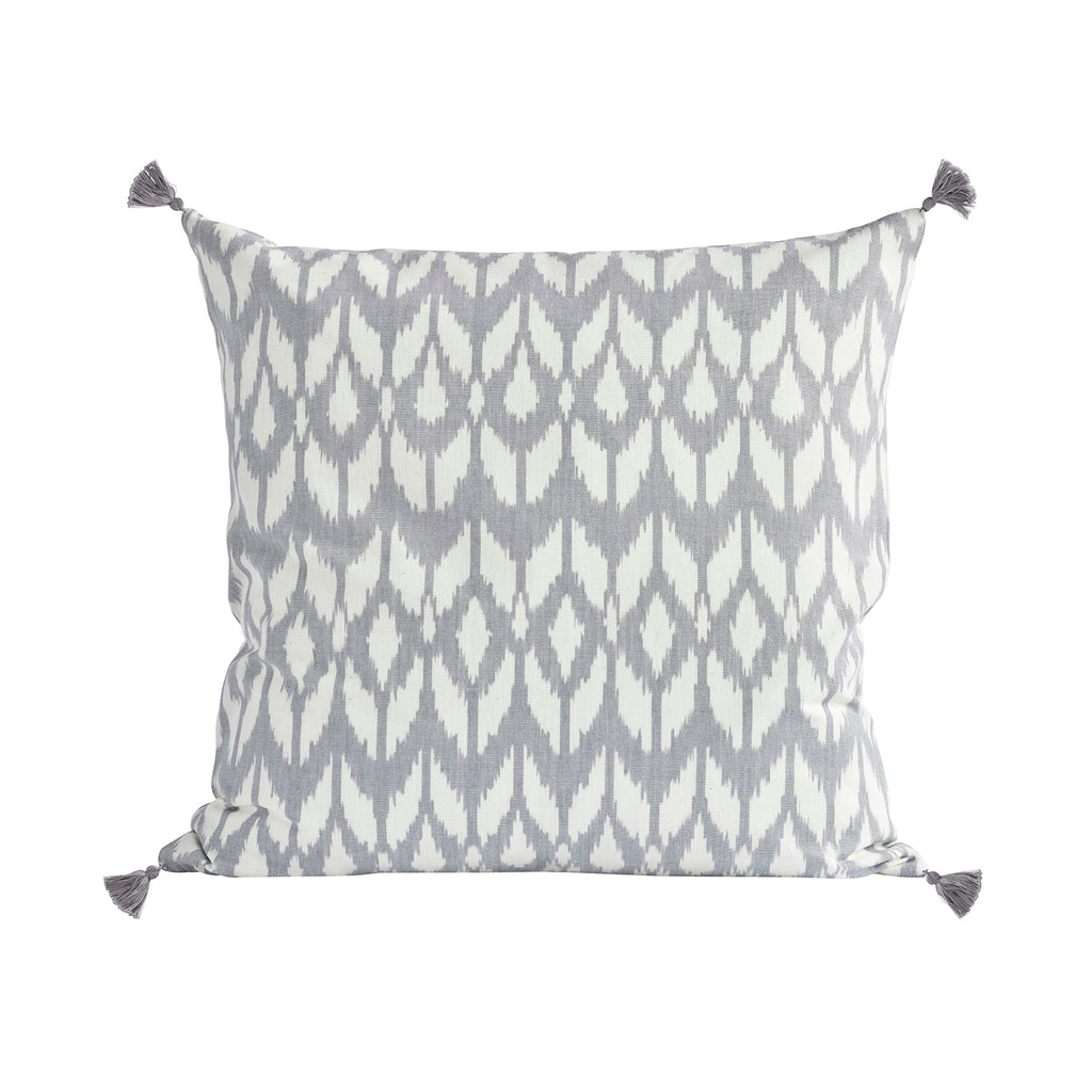 Pale Grey Ikat Cushion