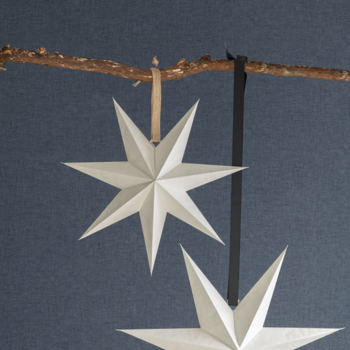 Small White Cotton Paper Star