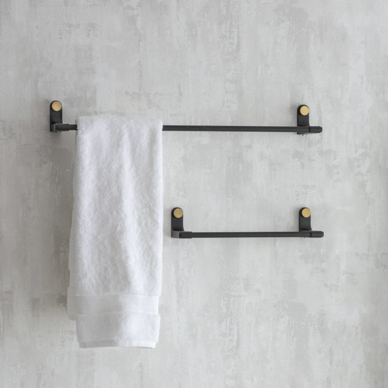 Large Black Towel Rail
