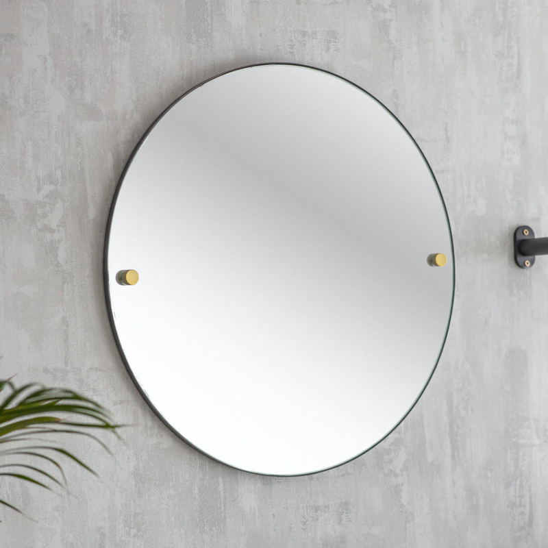 Black Steel Bathroom Mirror