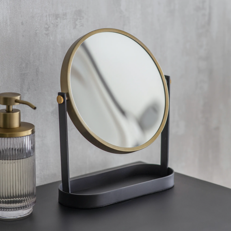 Black + Brass Vanity Mirror