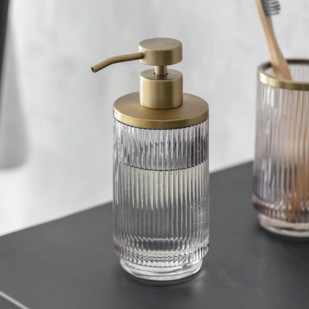 Brass + Glass Soap Dispenser
