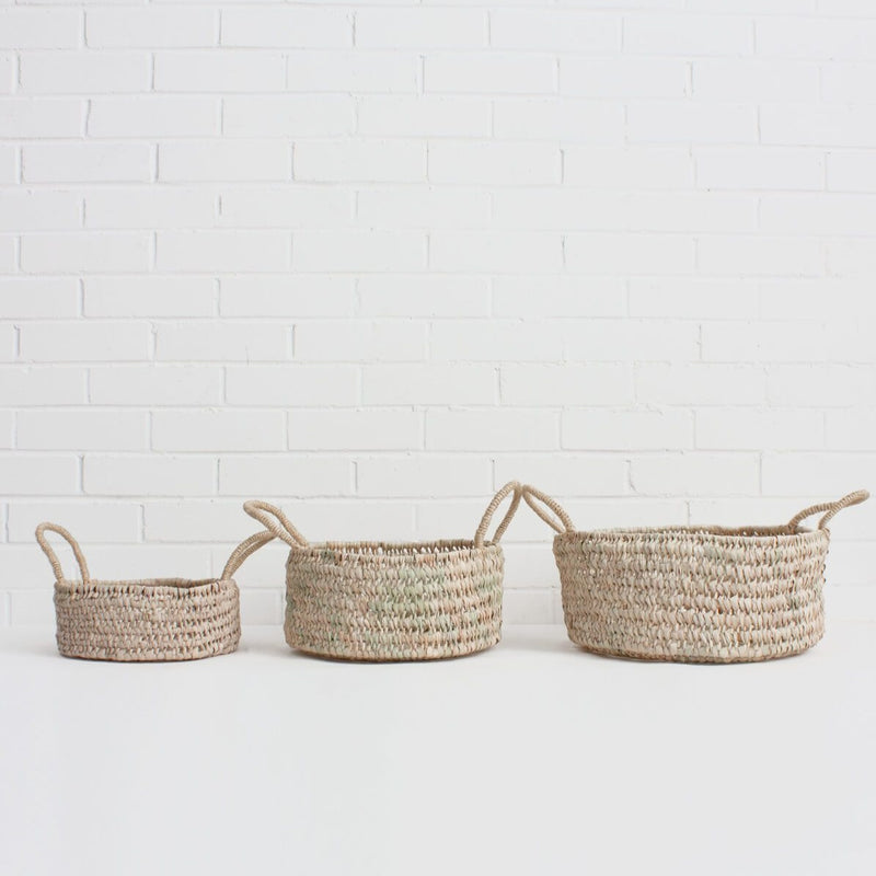 Set of 3 Round Baskets | Design Vintage