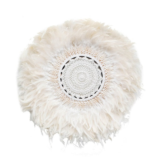 Boho Feather Wall Juju - White