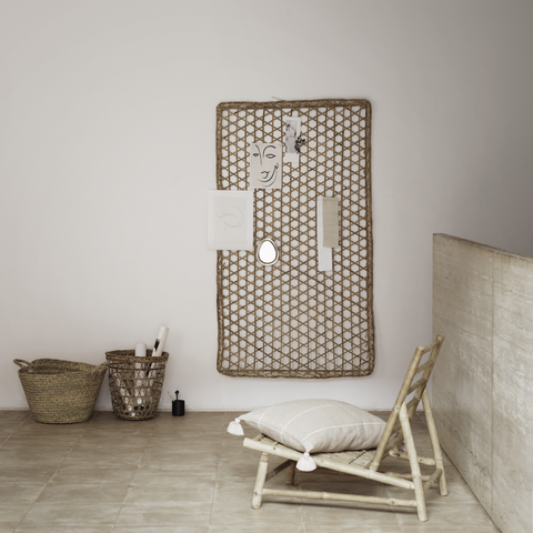 Woven Bamboo Wall Decoration