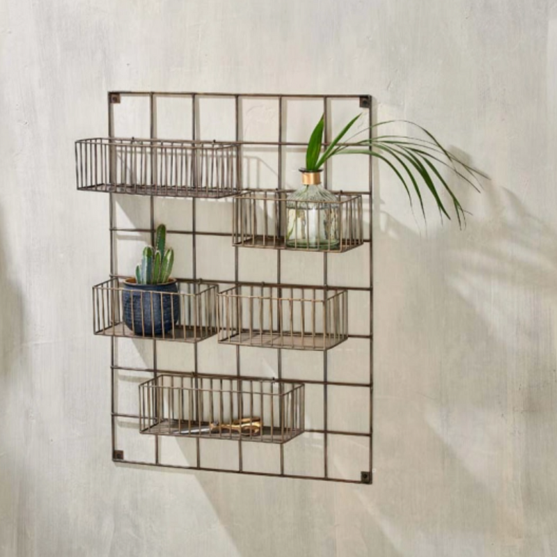 Antique Brass Wall Rack