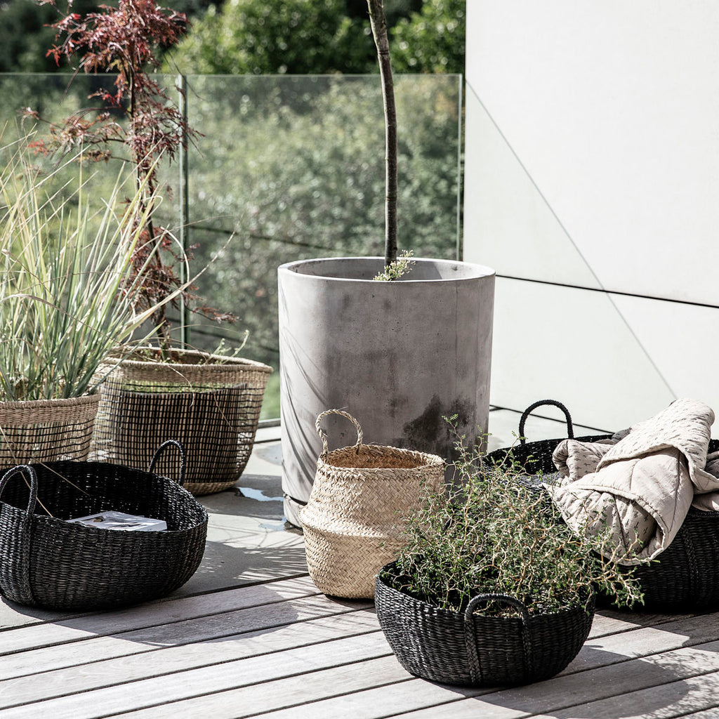 Black Seagrass Baskets