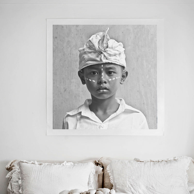 Balinese Love Warrior Art Print | Design Vintage