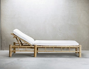 Bamboo Sunbed With Cushion | Design Vintage