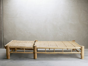 Double Bamboo Sunbed With Cushion