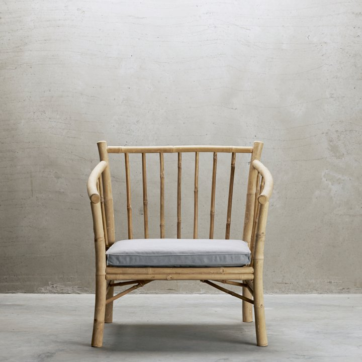 Bamboo Armchair With Cushion | Design Vintage