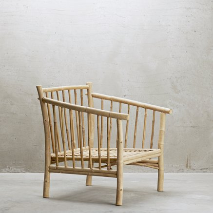 Bamboo Armchair With Cushion