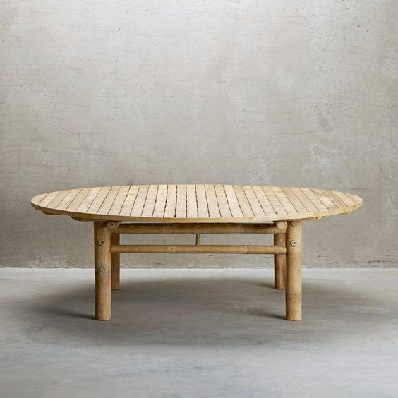 Round Bamboo Coffee Table Tine K Home Design Vintage Outdoor