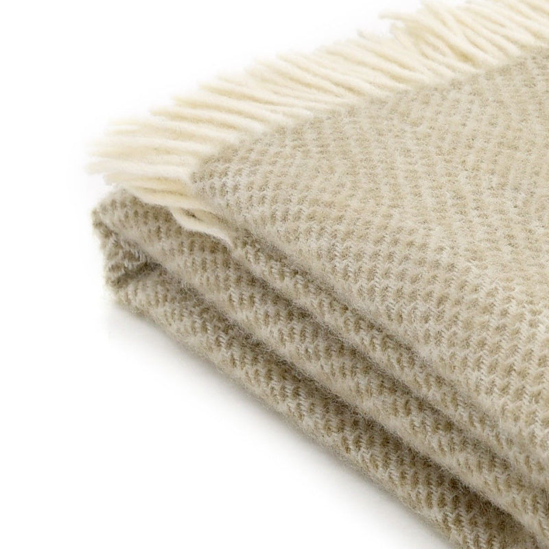 Oatmeal Beehive Throw