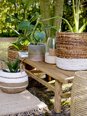Relaxed Raffia Baskets
