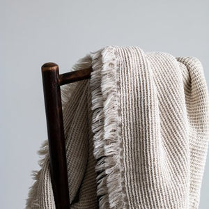 Calma Cotton Linen Throw