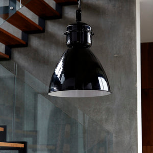 Black Industrial Pendant | Design Vintage