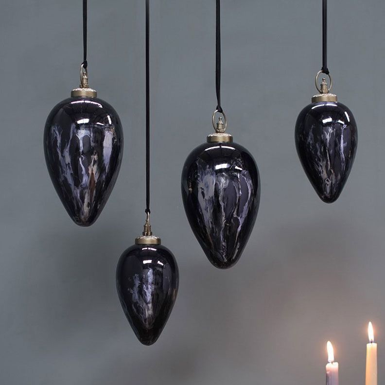 Giant Danoa Smoked Drop Bauble | Design Vintage