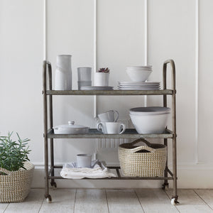Distressed Zinc Trolley