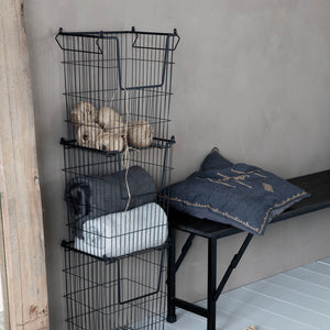 Stackable Black Baskets