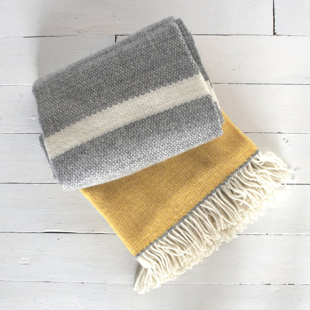 Grey Zest Lambswool Throw