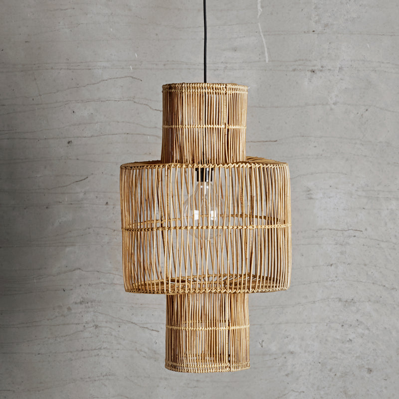 Shaped Rattan Lampshade | Design Vintage