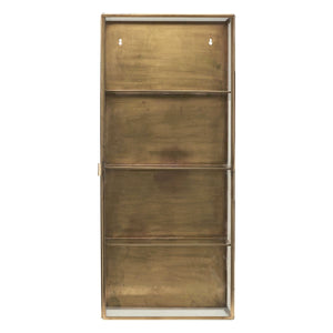 Antique Brass Wall Cabinet